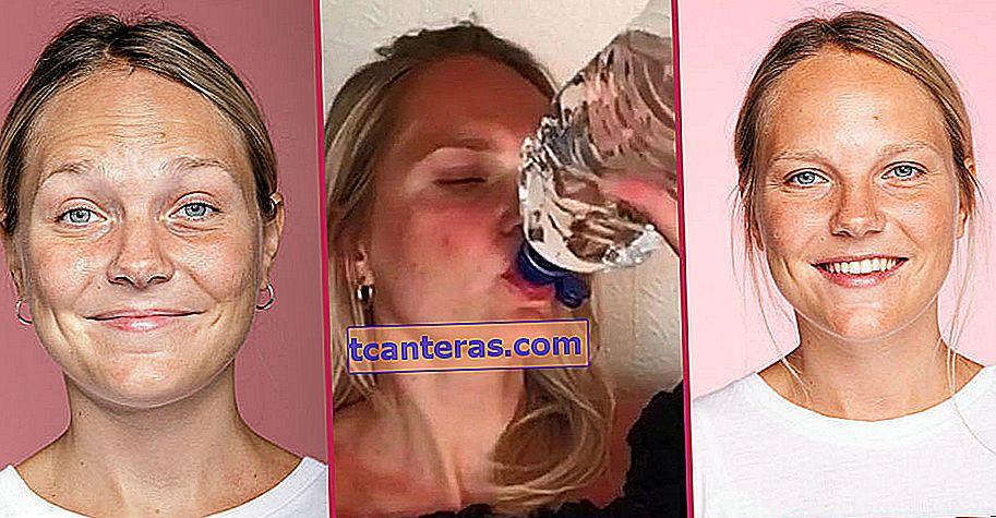 Experimento lleno de sorpresas: mujer joven que bebe 3 litros de agua todos los días durante una semana