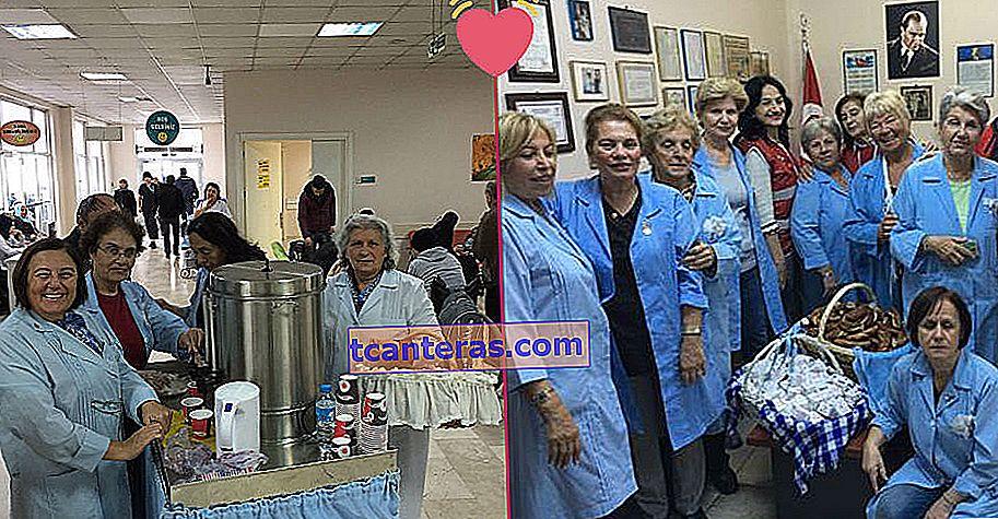 «Блакитні ангели» розповсюджують безкоштовний чай та рогалики хворим на рак у лікарні Окмейдани