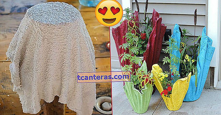 El método que te permite convertir toallas viejas en hermosas macetas