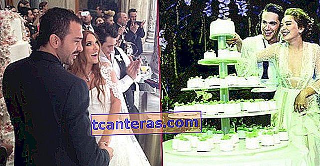 13 pasteles de boda que atraen tanta atención como aman las parejas famosas