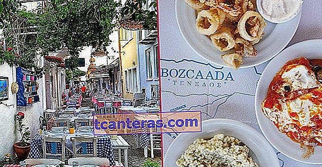 8 закусок Bozcaada, де ви хочете, щоб час зупинився, коли ви сидите за столом
