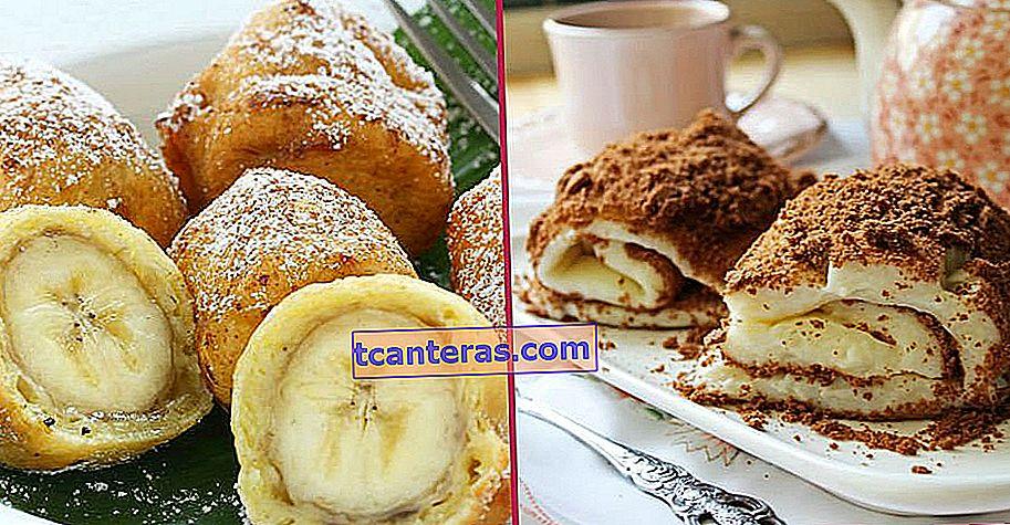 13 recetas diferentes de postres de plátano para aquellos cansados de hacer siempre los mismos postres de sorbete y leche