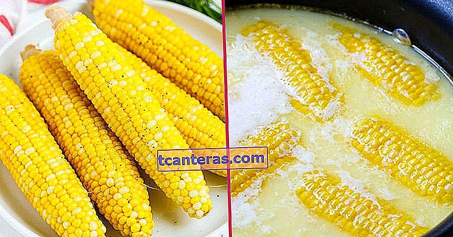 ¿Por qué poner leche en maíz hirviendo?