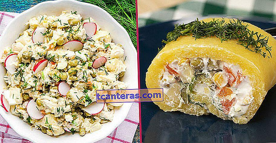 8 recetas diferentes de ensalada de papa para cada momento, desde el día dorado hasta los platos de carne